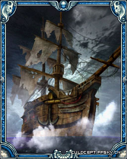 加勒比海盗船手绘